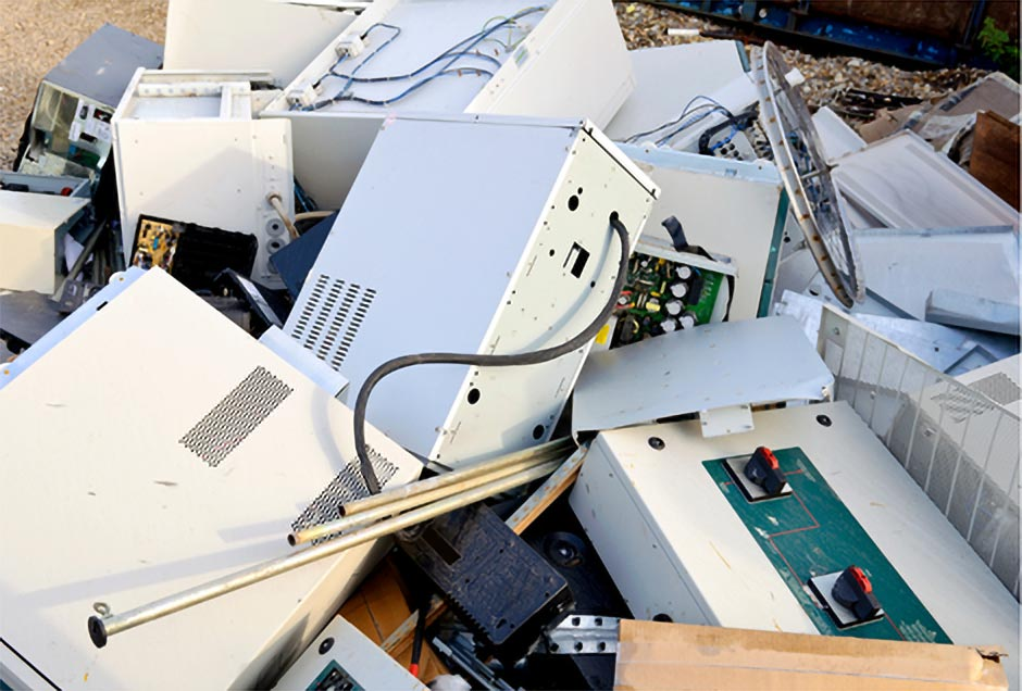 computer in landfill